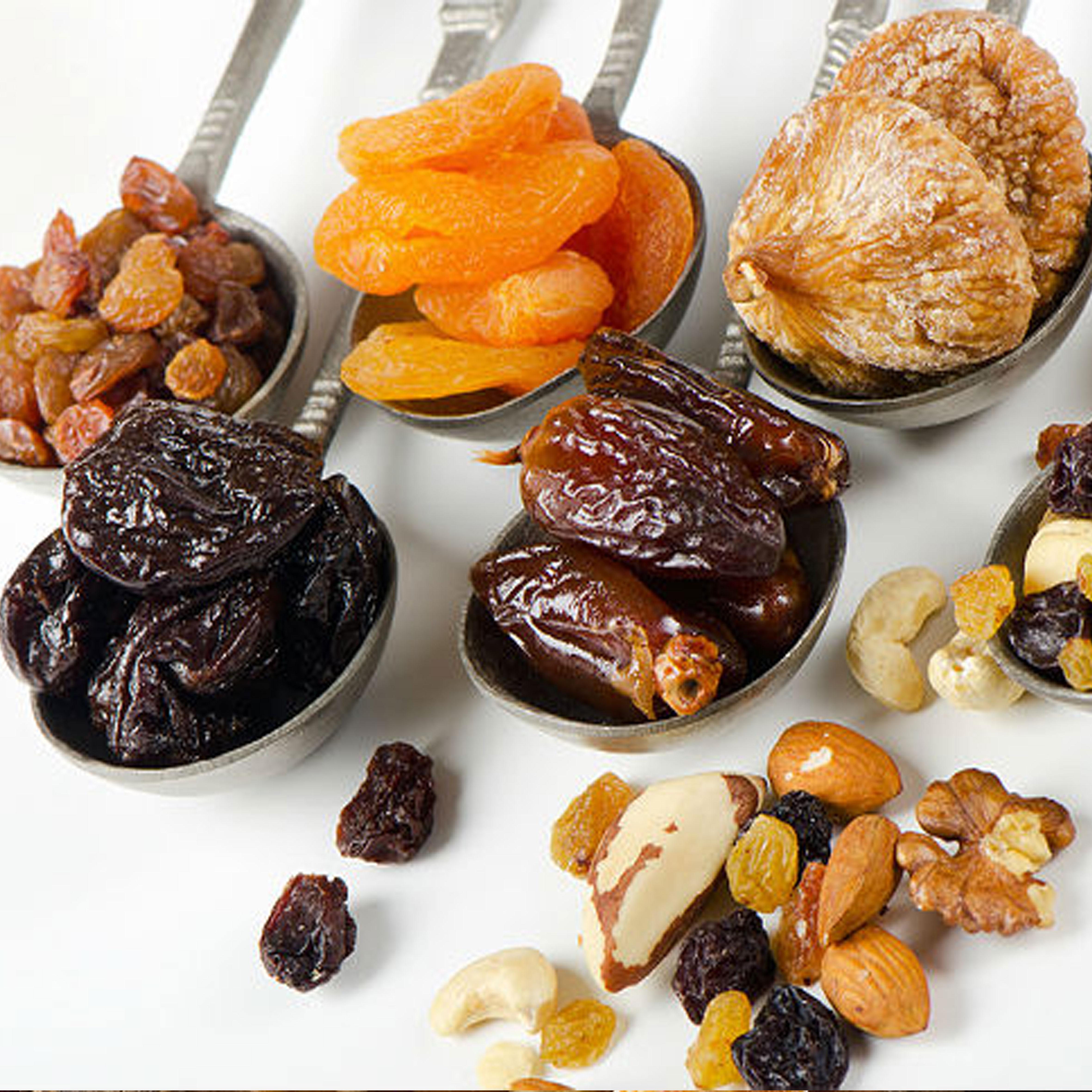 მშრალი ხილის წონის თანაფარდობის განსაზღვრა